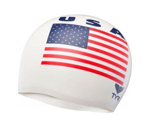 BKSR Swim Cap USA white
